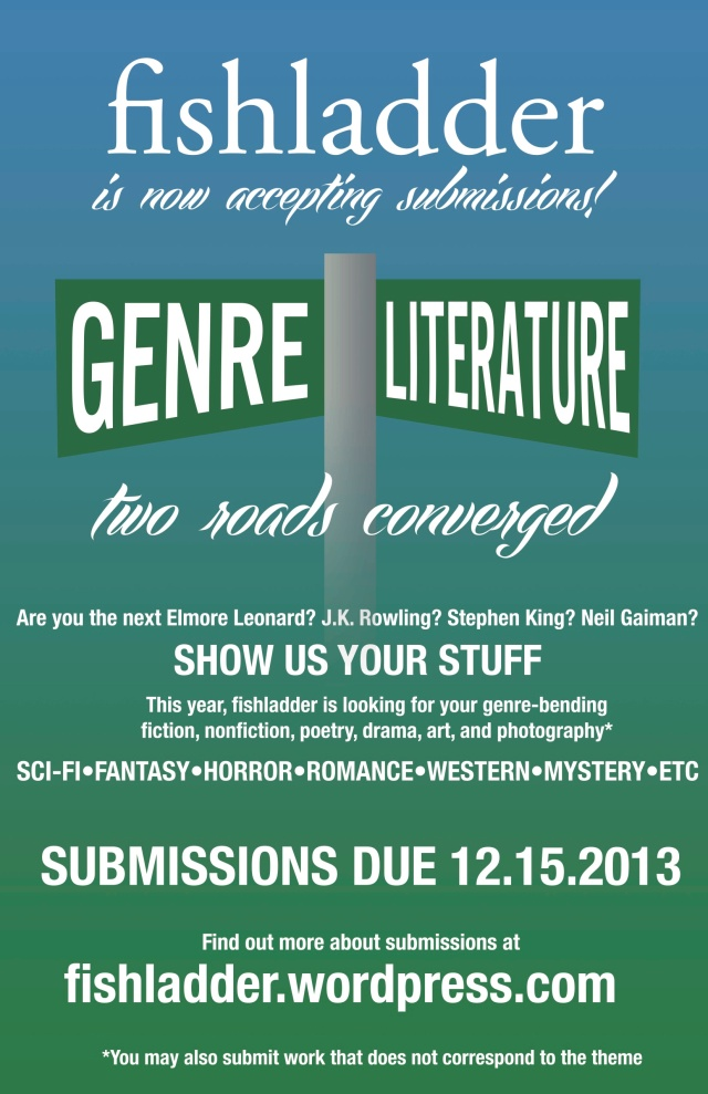 "The theme of the Spring 2014 edition is ""Two Roads Converge: Where Genre and Literary Fiction Intersect"""